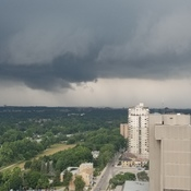 Tornado formation downtown London ON