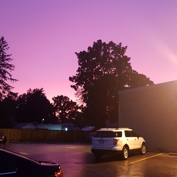 Skies of purple