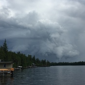 Booster Lake Manitoba Funnel Cloud
