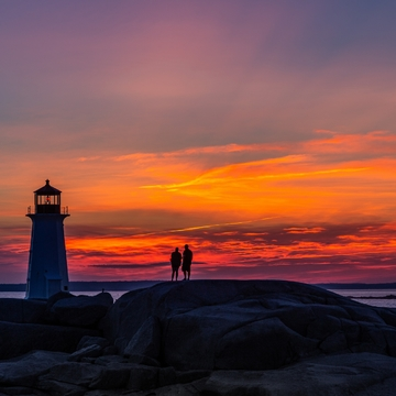 Peggys Cove Sunset