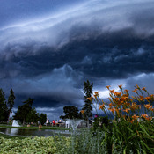 Saturdays shelf cloud