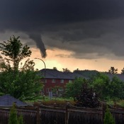 funnel clouds over Ancaster