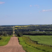 Rolling Alberta countryside