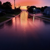 Sunset after the rain