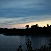 Sugar Island Sunset, Red River North of Selkirk, MB