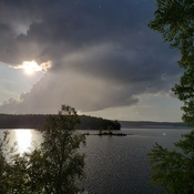 storm over gull lake