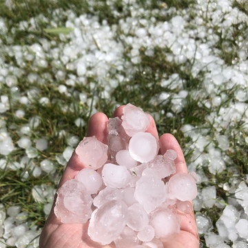 Hail storm in Oro-Medonte, ON