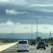 Driving to Toronto clouds look like mountains