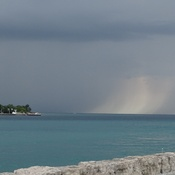 Storm clouds over Lake Huron and the St. Clair River