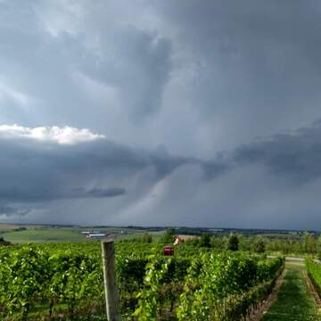 Storm watching over the Annapolis Valley