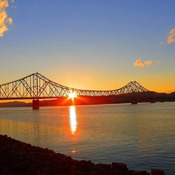Sunset and Sunrise - JC Van Horne Bridge in Campbellton, NB