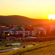 sunset at Mont Tremblant