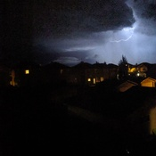 lightning storm in Okotoks