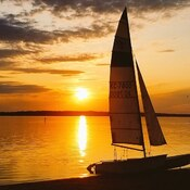 Sailing into the sunset on the Ottawa River.
