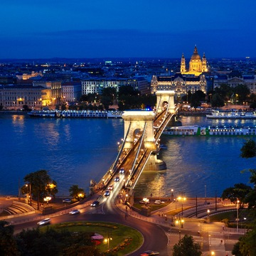 The Chein Bridge in Budapest