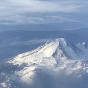 Mt. Baker from the air.