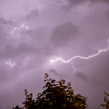 Lightening In Uxbridge Tonight