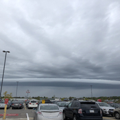 Shelf cloud this morning