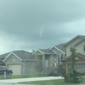 Funnel cloud in Tilbury