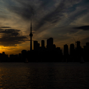 Toronto Skyline sunset view