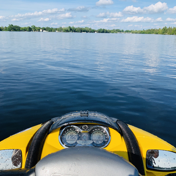 View from the seadoo