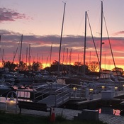 Sunrise Sept. 19, Outer Harbour Marina Toronto