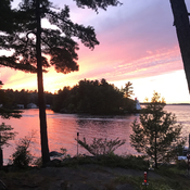 Lake Muskoka at sunset