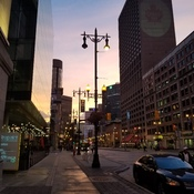 Downtown Winnipeg waking up.