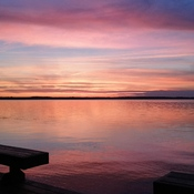 Sunset over Lake Scugog