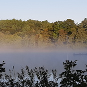 fog over the lake