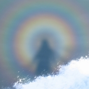 Rainbow Shadow in the Sea