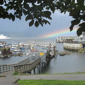 Low rainbow by BC Ferries