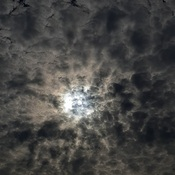 Sun behind the clouds