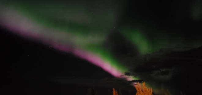 northern lights Whitehorse, YT