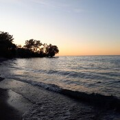 lake ontario fall sunset