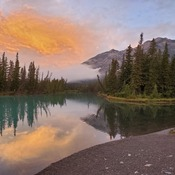 Bow River Banff early morning
