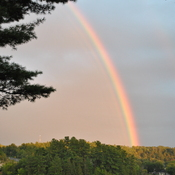 Rainbow over Bryson, Quebec on Labour day weekend 2019