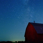 The Red Barn Under The Milkyway