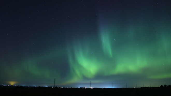 Northern Lights Red Deer County, Alberta, Canada