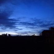 Blue sunrise