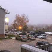 Morning Cold and foggy!