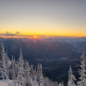 Sunset on Mt Baker near Cranbrook, BC