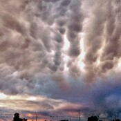 Weird clouds over Ingersoll.