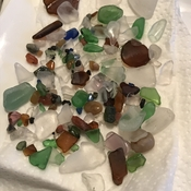 Colourful beach glass