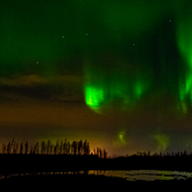Northern Lights playing in the sky