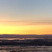 Sunset in Iqaluit