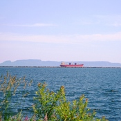 Lake Freighter Sleeping Giant and Lake Superior