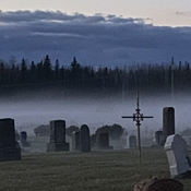 Graveyard fog by Julie Bougie