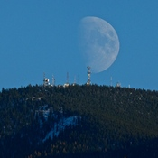 MOONRISE OVER BAKER MOUNTAIN