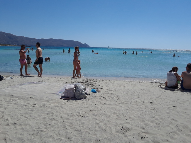 Beautiful beach at the Island of Crete ( Greece ) Chania,